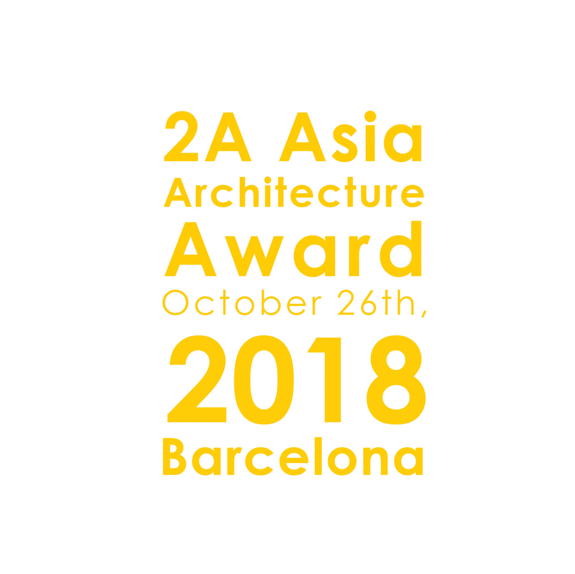 4th 2A Asia Architecture Award 2018