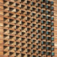 Ozgol Apartment in Tehran by Hooba Design Group Brick Pattern  3